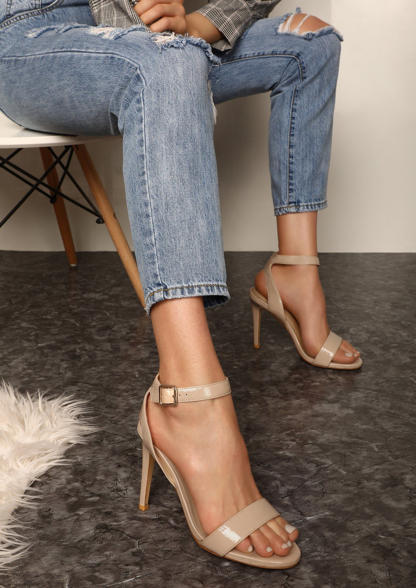 Buy Never Say Sorry Again Beige Heeled Sandals For Women Online In India Womenshoesonlineindia Beige Sandals Heels Sandals Heels Red Sandals Heels
