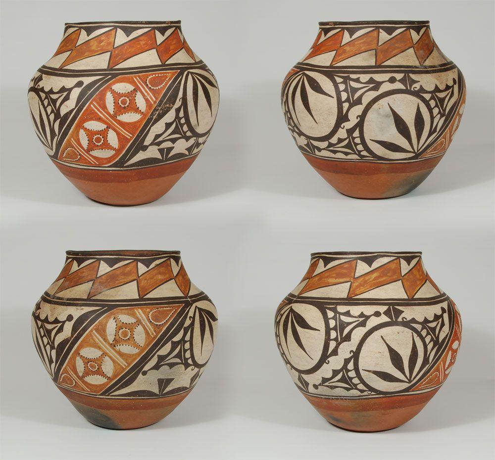 painting southwest ancient indian pots Zia Pueblo