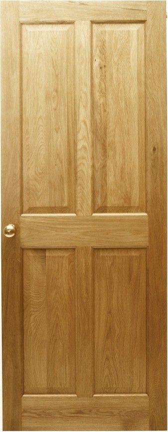 Victorian 4 Panel Solid Oak Door | Solid oak doors, Oak doors and ...