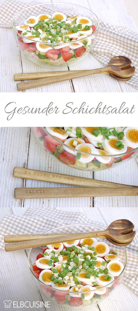 Schichtsalat mit erfrischendem Joghurtdressing
