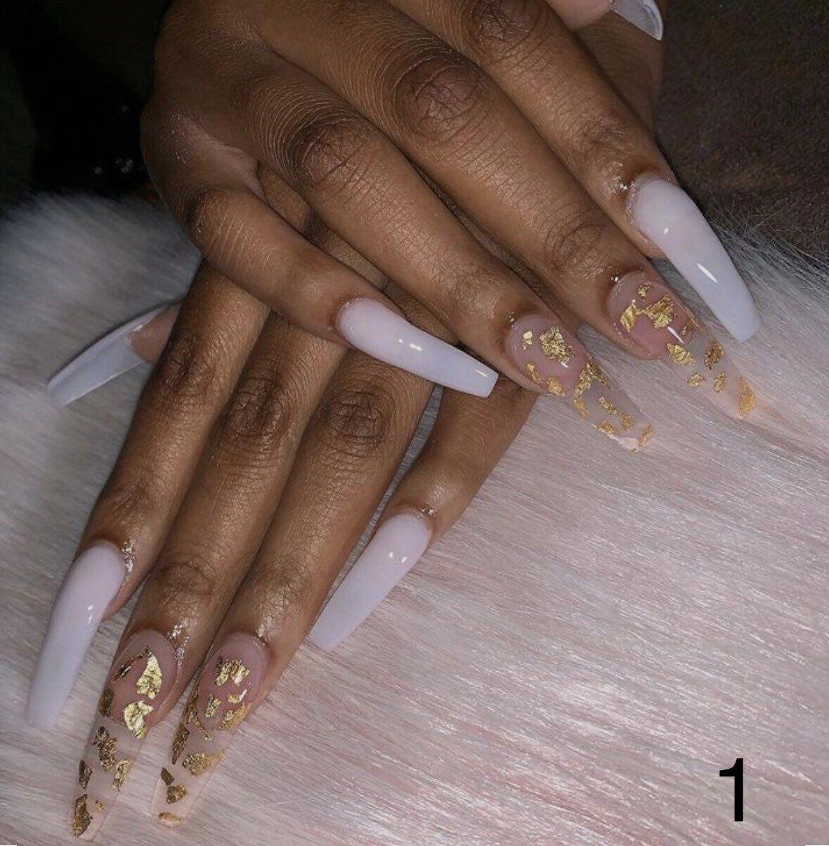 Custom Press On Acrylic Nails Set Of 10 Any Size Shape Etsy In 2020 Acrylic Nail Set Fake Nails Coffin Nails Designs