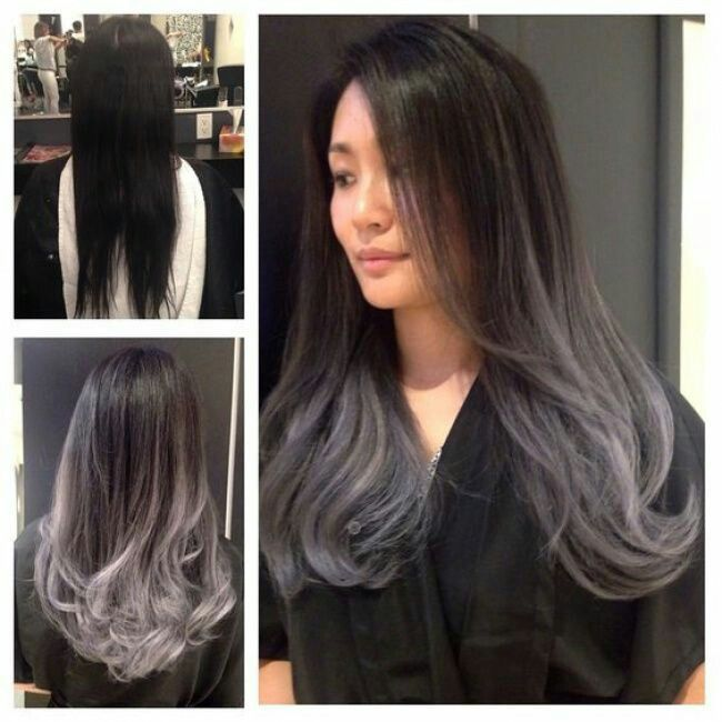 Tye And Dye Brun Noir Gris Hair Styles Creative Hair Color