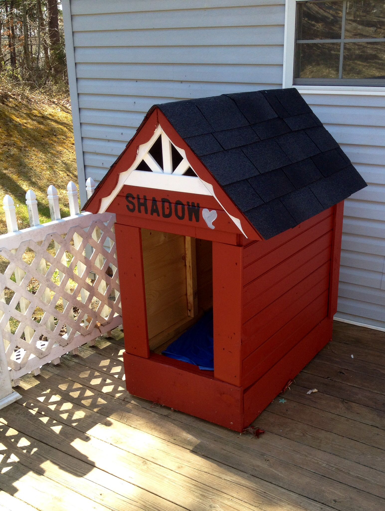 Completed Pallet Reclaimed Wood Dog House Barn Wood Dog House