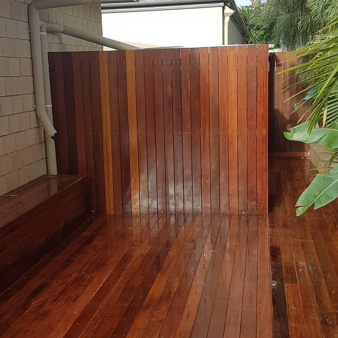 Merbau Bench Seat With Merbau Fence Hardwood Floors Timber Deck Decks Backyard