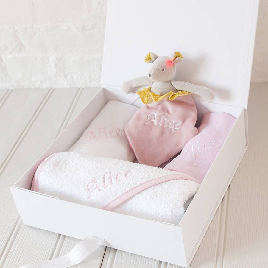 Babys personalised embroidered gift set embroidered gifts babys personalised embroidered gift set negle Choice Image