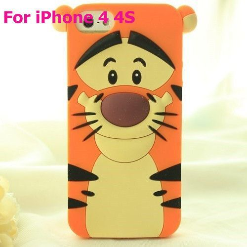 Cute 3D Rubber Silicon University Case For Apple iPhone 5 5S 5SE SE 4 4S 4G Cell Phone Back Covers HOT 1pcs/lot