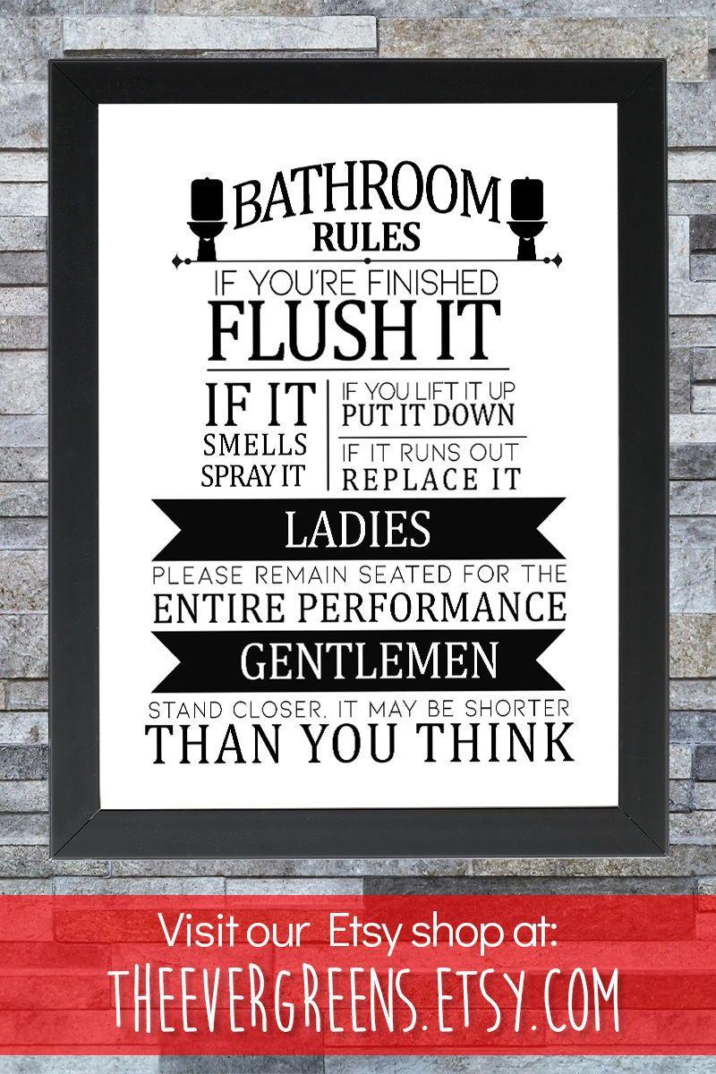 Toilet Bathroom Sign Toilet Door Sign Toilet Rules Sign Bathroom Rules Kids Bathroom Sign Funny In 2020 Kids Bathroom Sign Funny Toilet Signs Toilet Door Sign