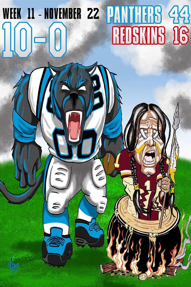 e5d25af4 Carolina Panthers vs. Washington Redskins Cartoon | The Moving ...