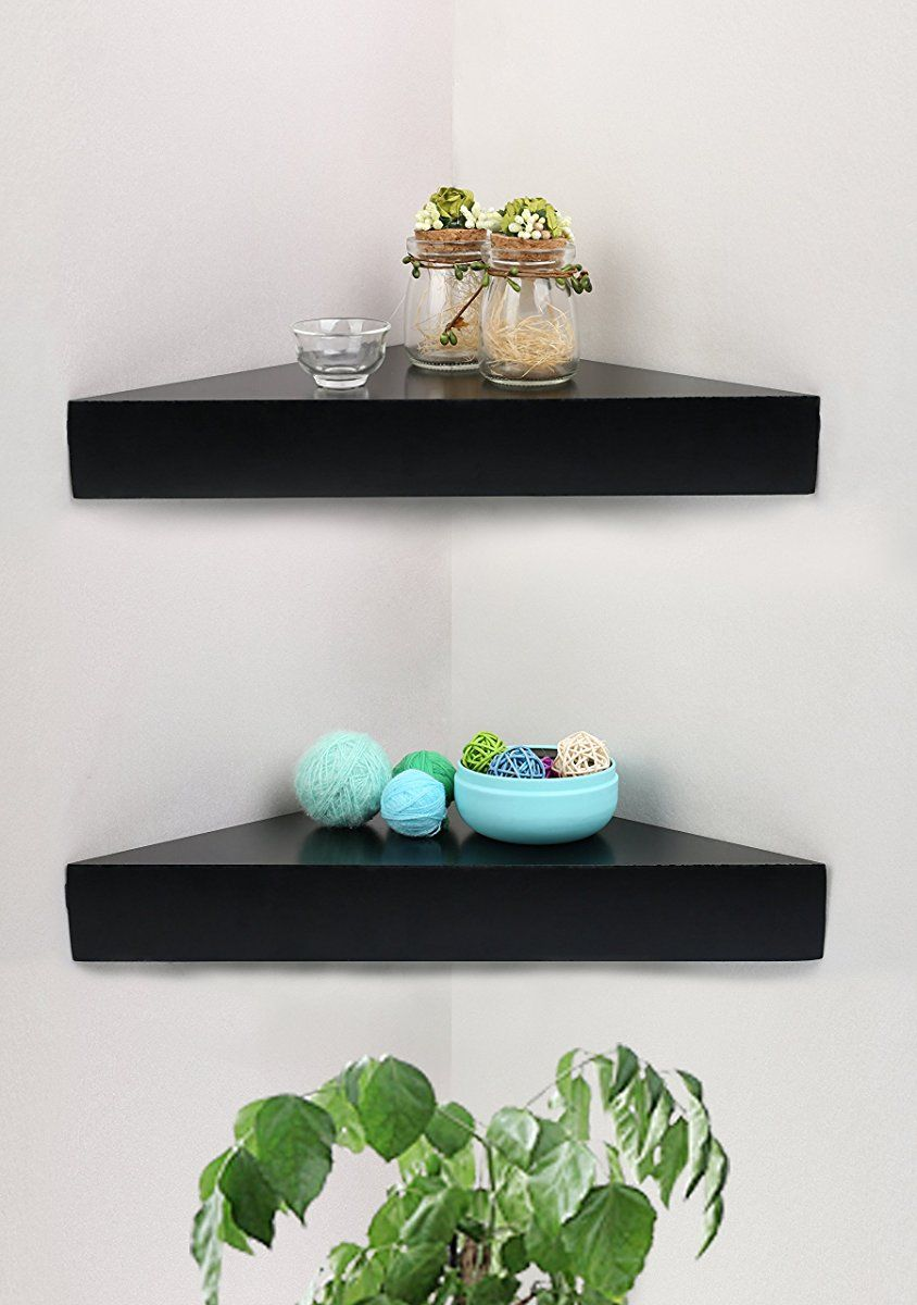 Corner Wall Shelf Black