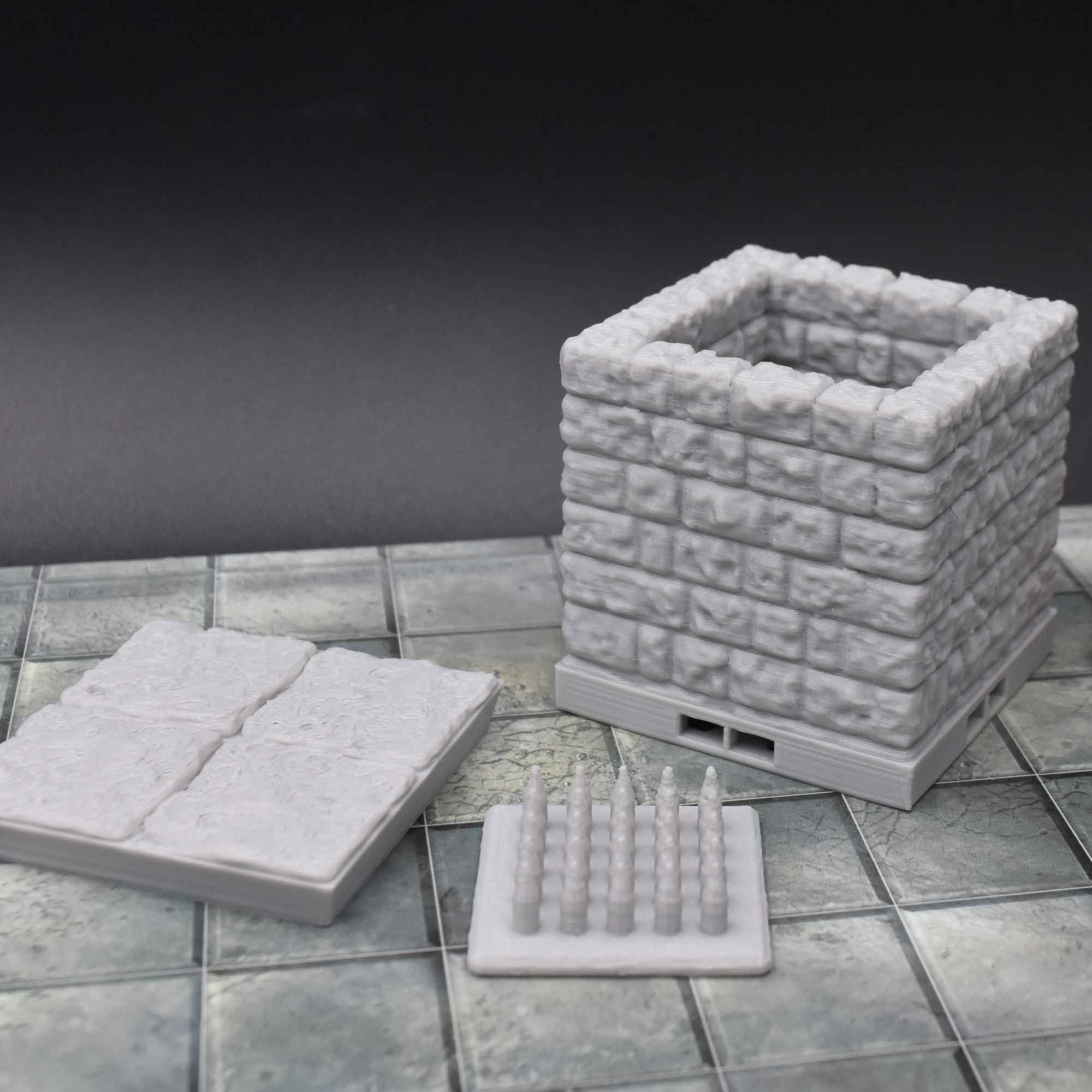 picture relating to 3d Printable Dungeon Tiles called Pit Lure Tile - Dungeon Tiles by way of Dragonlock™ Our Solutions