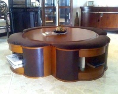 Space Saving Dining Table And Chairs Retro To Go: Full Moon Coffee Table Set  |