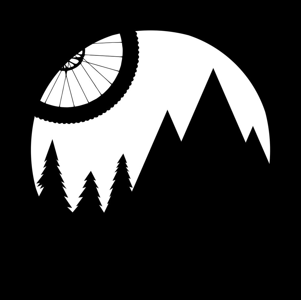 Mtb Logo Framed Art Print By Bongonation Store Vector Black Medium Gallery 20x26 Mtb Bike Mountain Bike Tattoos Mtb
