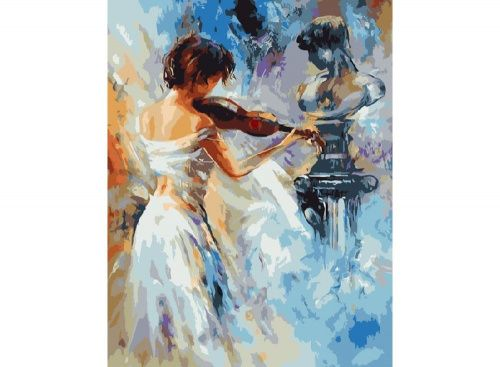 Картина по номерам «Скрипачка» | Картины, Краска и Искусство