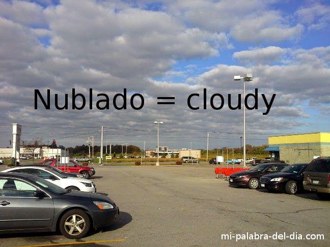 Mi Palabra Del Dia: Nublado - Cloudy