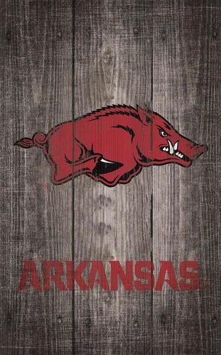 Arkansas Razorback Wall Art Distressed Gray Wood Plaque Arkansas Razorbacks Grey Wood Wood Plaques