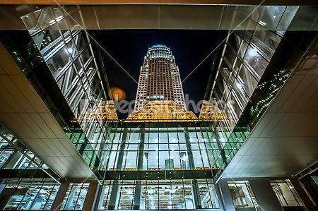 Tall skyscraper in a major metropilitan city by Alex Grichenko - Stock Photo