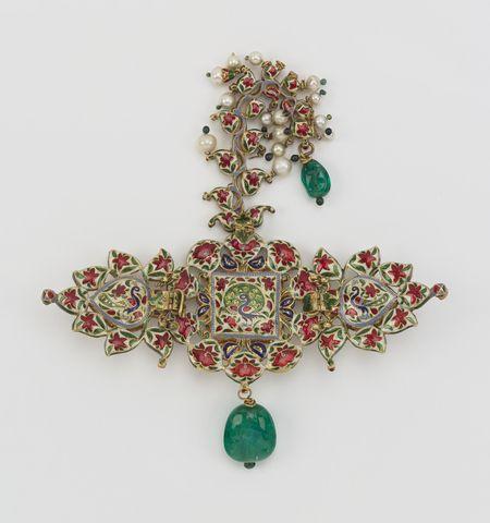 Hindu Cosmos - Turban ornament  1870-75 Udaipur, India.  Gold,...