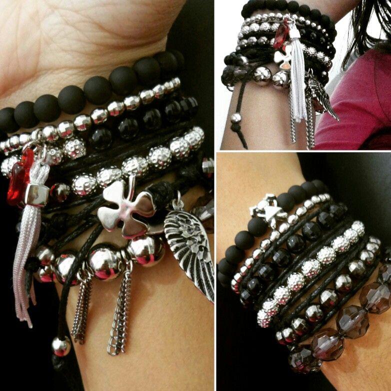 @ayarosatelier  #pulseirismo #pulseirasfemininas #bracelets #stacks #santoscity #santos #pulseiras #black #silver #prata #preto