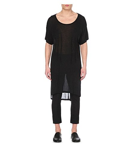 ANN DEMEULEMEESTER Loose-Fit Jersey Top. #anndemeulemeester #cloth #tops & t-shirts