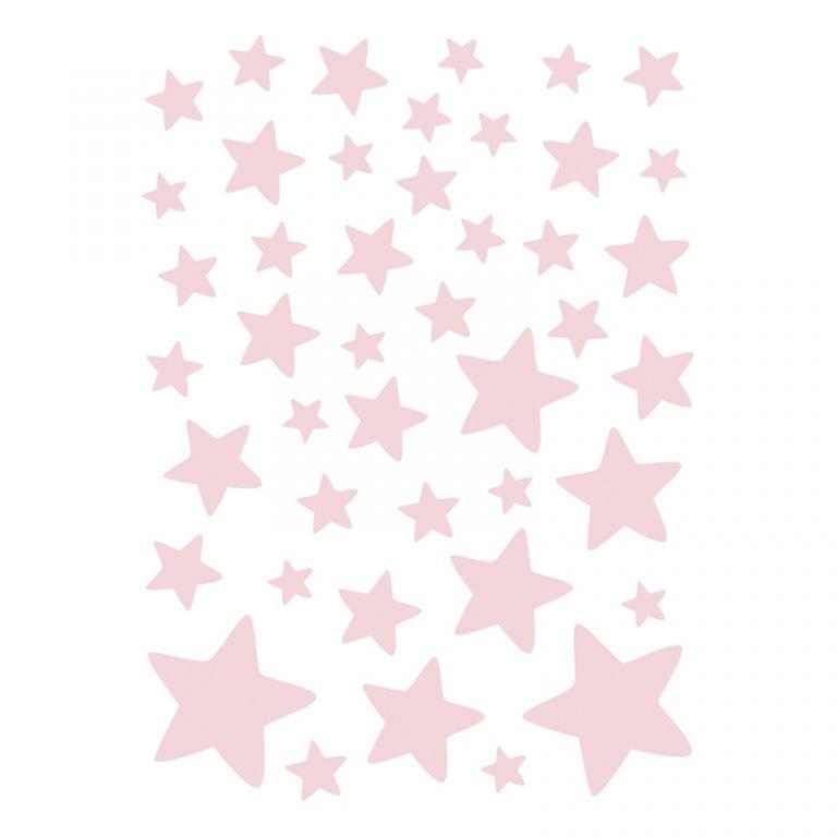 Kinderzimmer deko sterne  Lilipinso Wandtattoo Set 'Sterne' rosa 44-teilig bei Fantasyroom ...