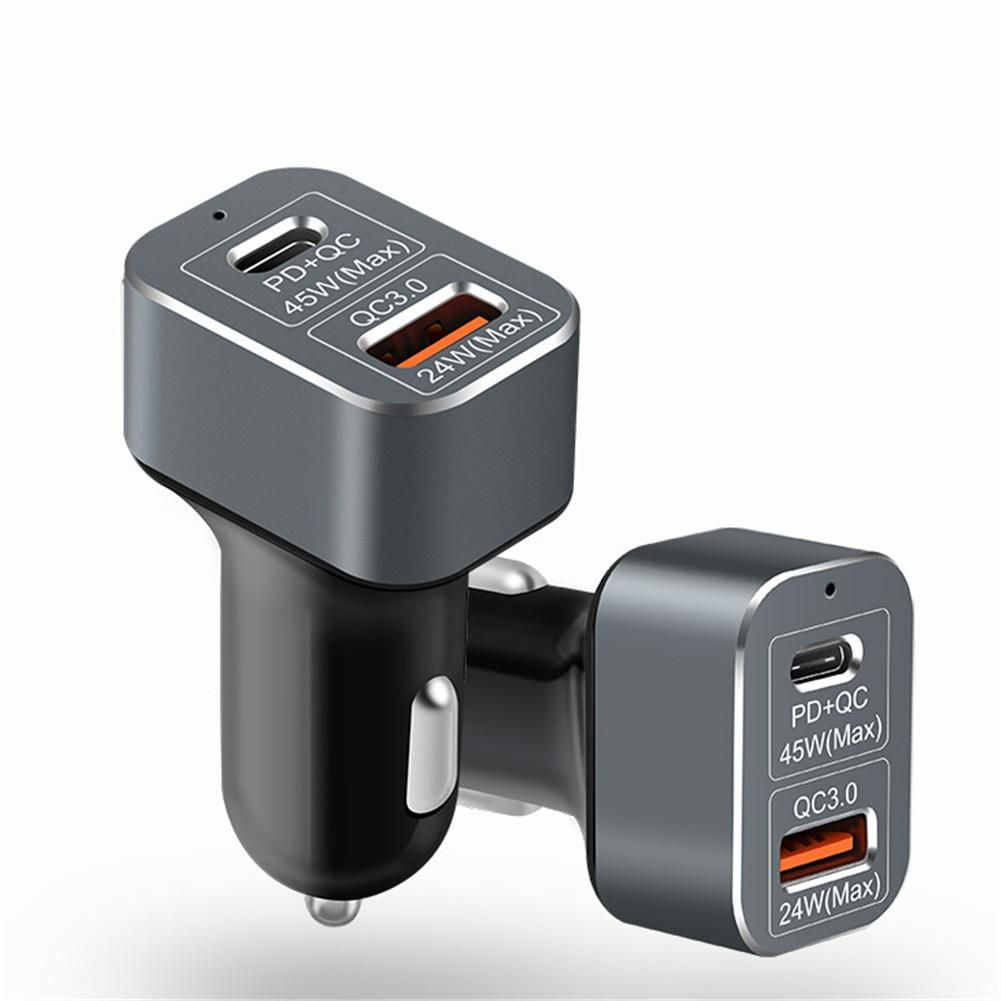 USB-C PD Charger 69W PD QC3.0 Fast Car Charger Quick