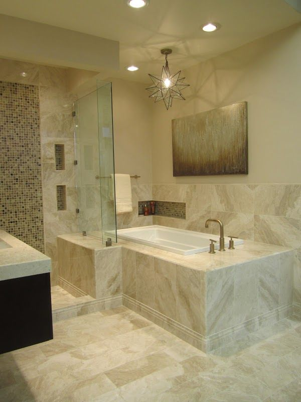 This Queen Beige Marble Bath Is Completely Luxurious Marble