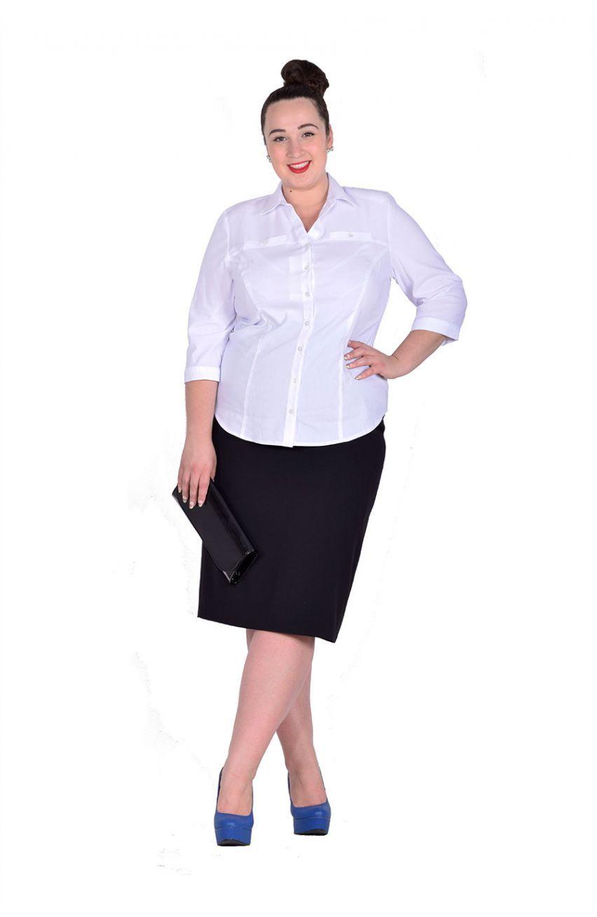497375be Czarna klasyczna spódnica midi - Modne Duże Rozmiary | MDR Spódnice ...
