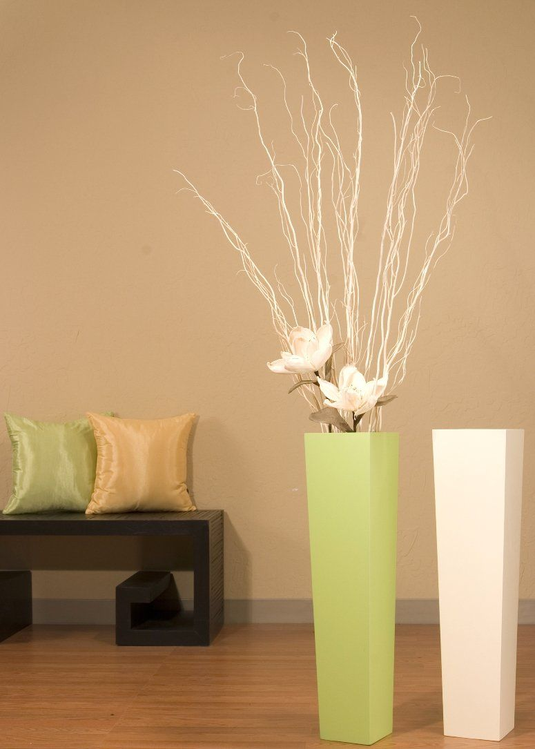 Amazon.com - Shopping The Globe Ivory Tapered Floor Vase (Floral Not Included) - 28 inch - Decorative Vases