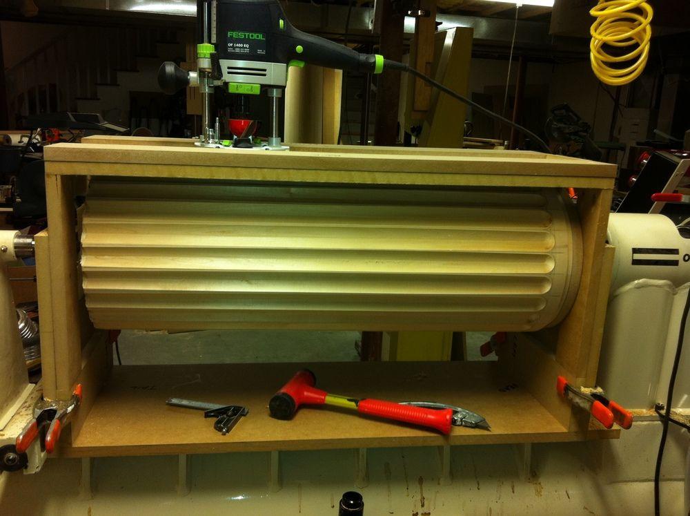 Lathe mounted fluting jig | wood turning | Pinterest ...