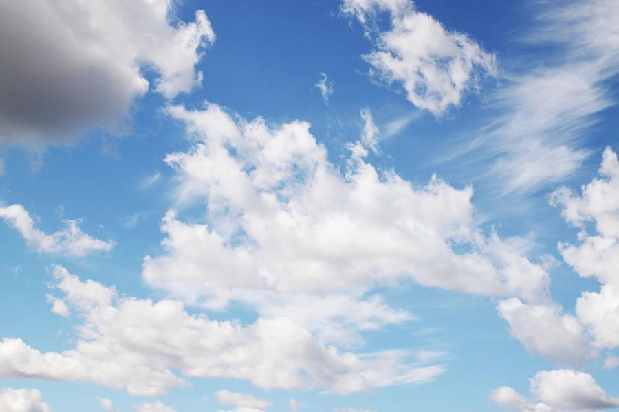 Blue Sky By Iuliia Malivanchuk #IuliiaMalivanchukFineArtPhotography #ArtForHome #FineArtPrints #HomeDecor #sky #clouds #clearsky #blue