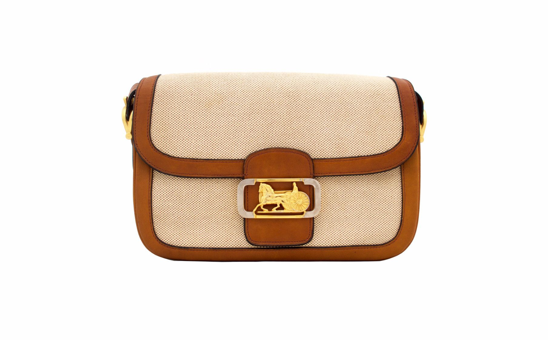 CELINE VINTAGE BAG - Classic Box in Brown Canvas from Vintage District d758ff336d27c