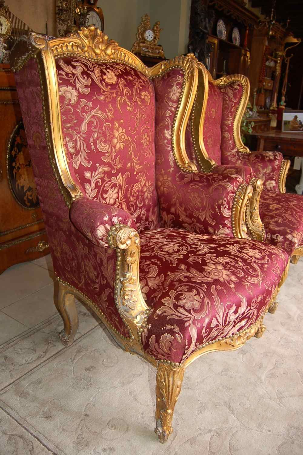 Best Antique French Gilt Wingback Chairs Jpg 1000×1504 400 x 300