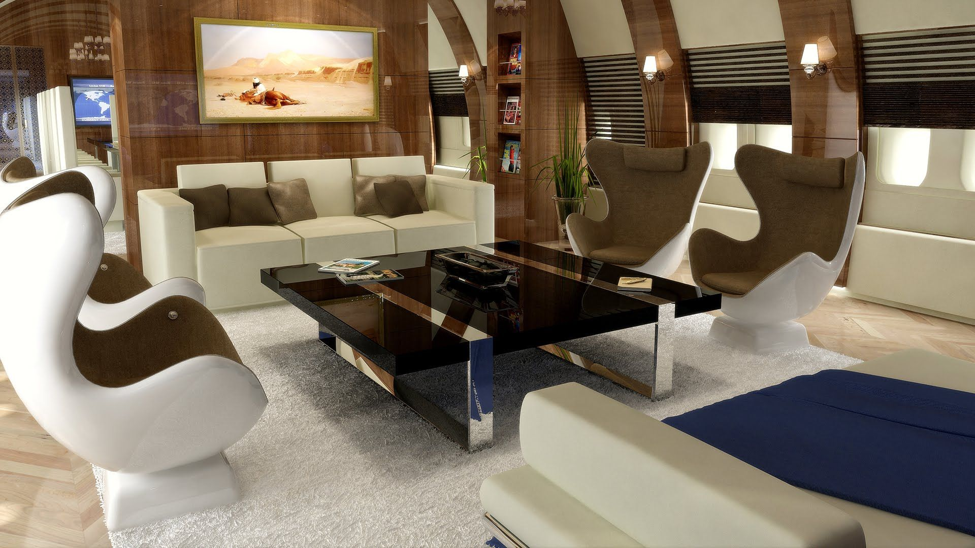 Private boeing 747 8 designed by edese doret airbus 340 for Boeing 747 8 interieur