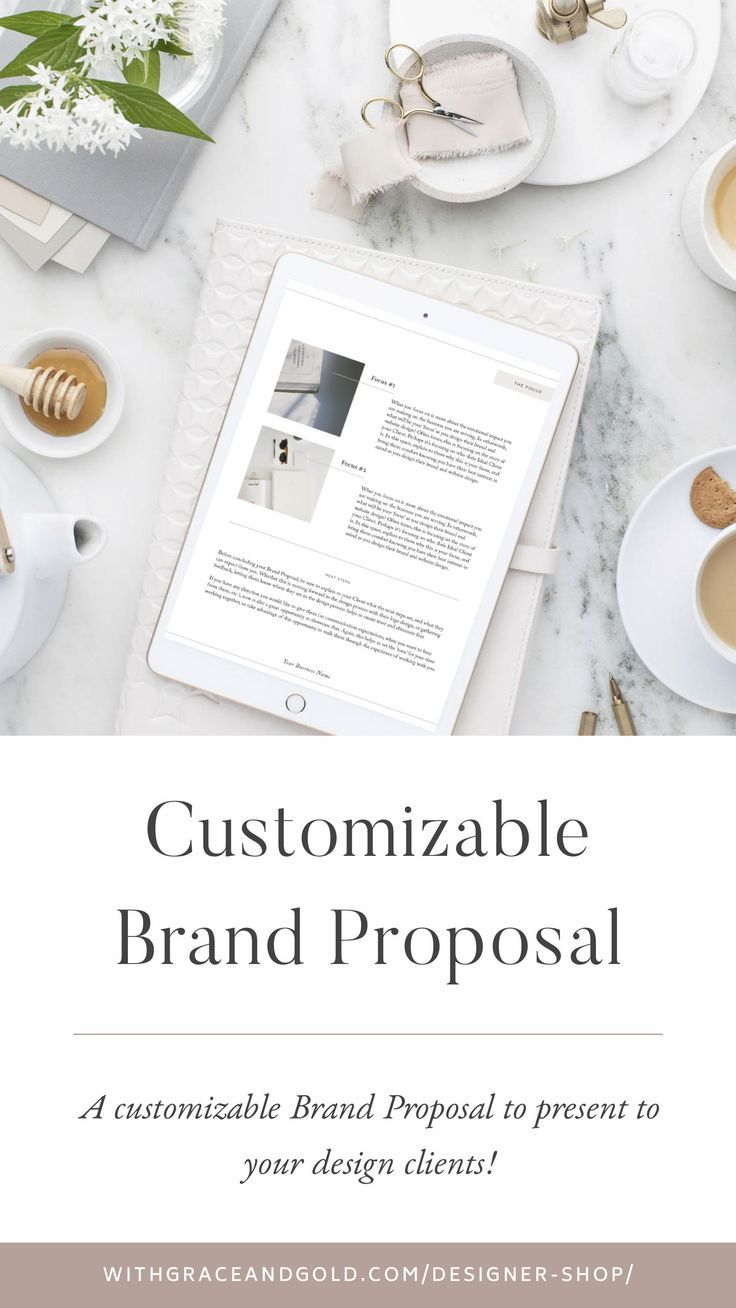 Customizable Brand Proposal for Graphic Designers by With Grace and Gold |