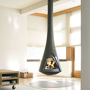 25 Hanging Fireplaces Adding Chic To Contemporary Interior Design Modern Wood Burning Stoves
