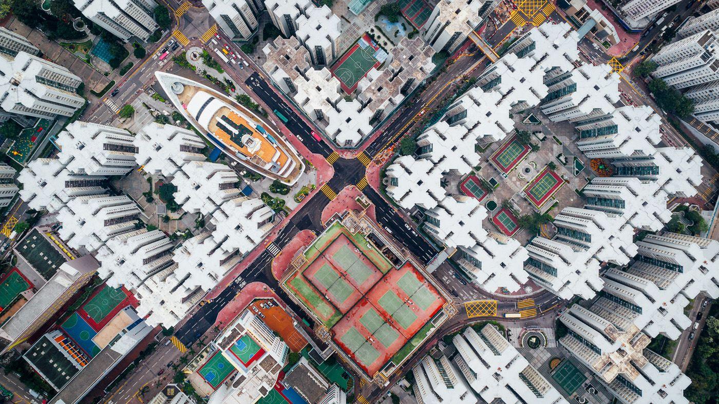 Kowloon City aerial pic Kowloon City aerial