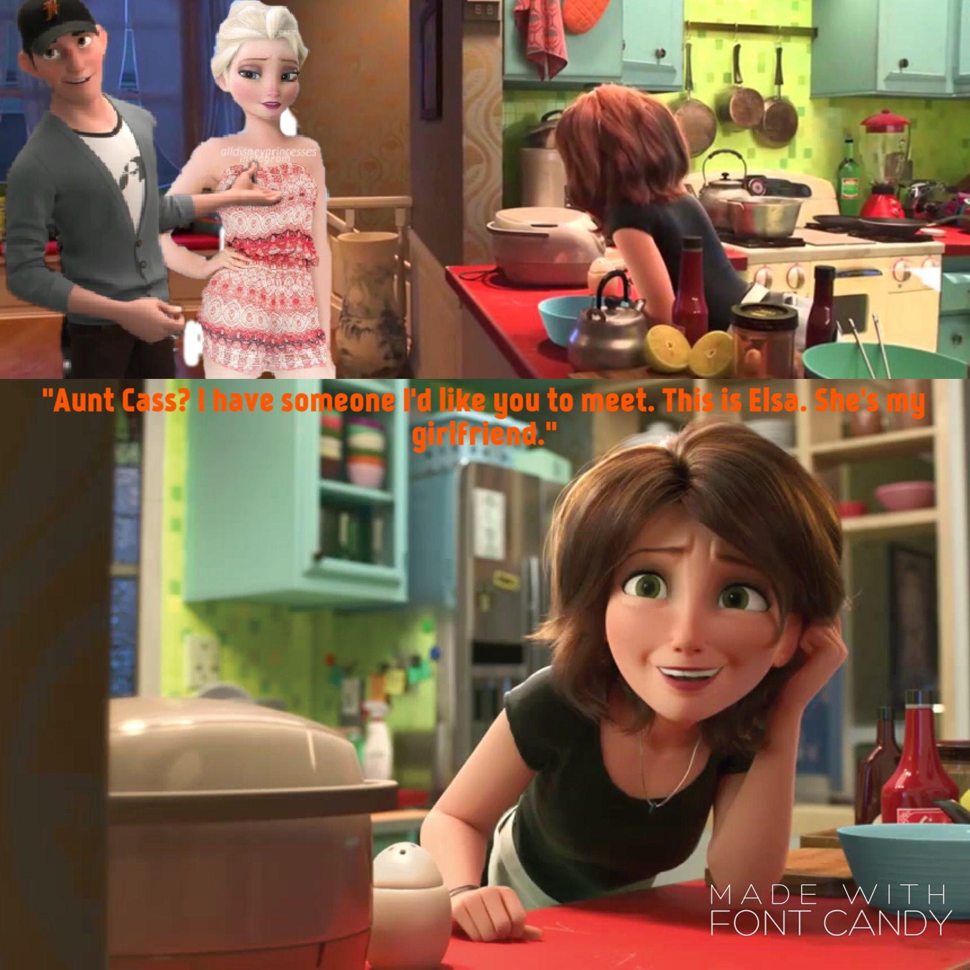 Tadashi X Elsa Disney Story Elsa Jelsa