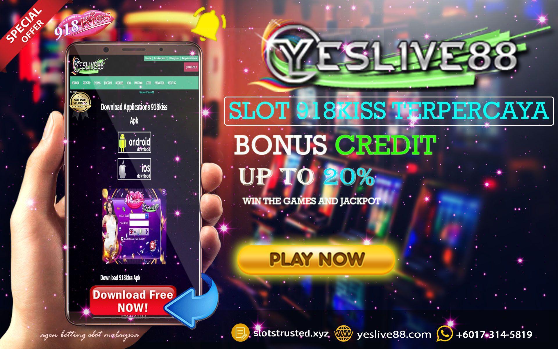 Bonus Credit |Login ID 918KISS |Cara Main |Free Spin | Bonus Rekomen | Bonus Rebate
