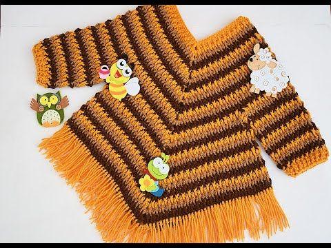 Crochet Fast And Easy Baby Girl Poncho Crochet Ideas Crochet Poncho Free Pattern Crochet Poncho Kids Crochet