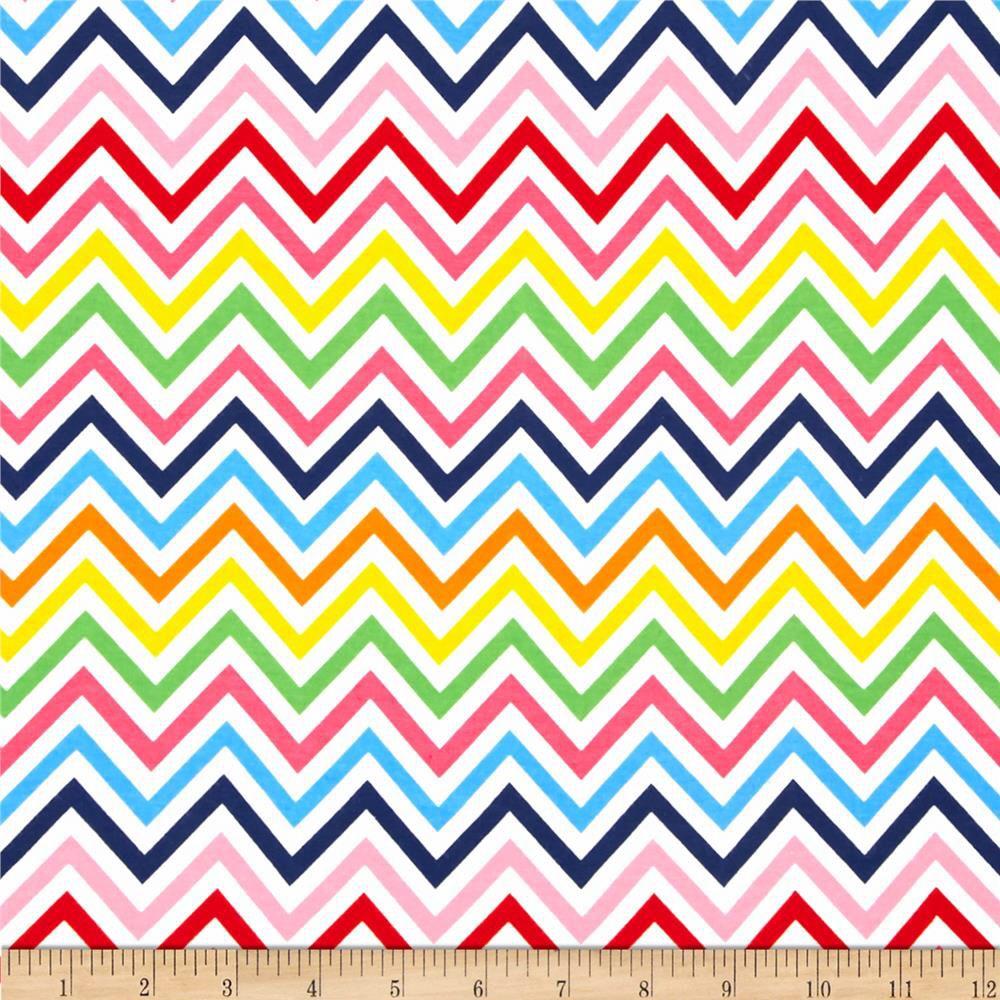Bright chevron fabric knit jersey jersey knit fabric