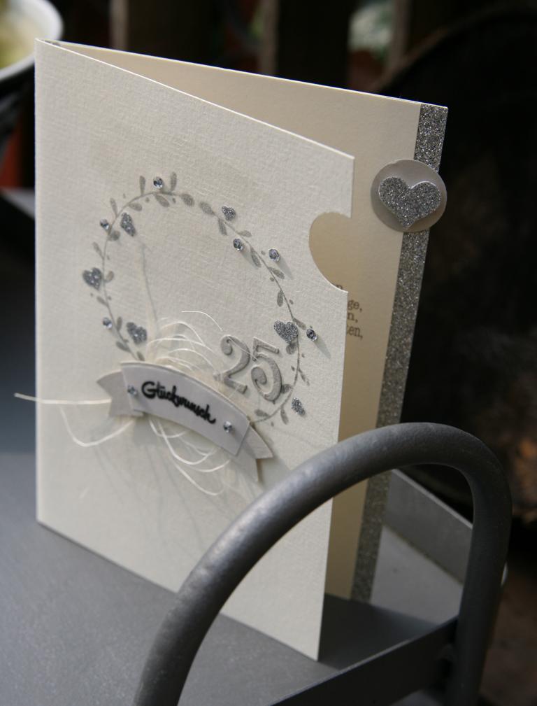 handgemachtes: karte zur silbernen hochzeit | »karten, Einladungsentwurf