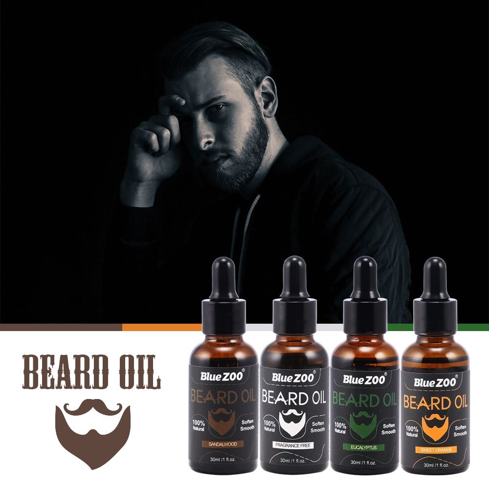 Men Moustache Cream Beard Oil Kit Beard Wax balm Hair Loss