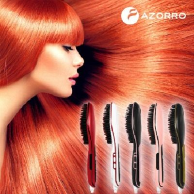 Professional Ionic Best Hair Brush Straightener For Styling By Azorro