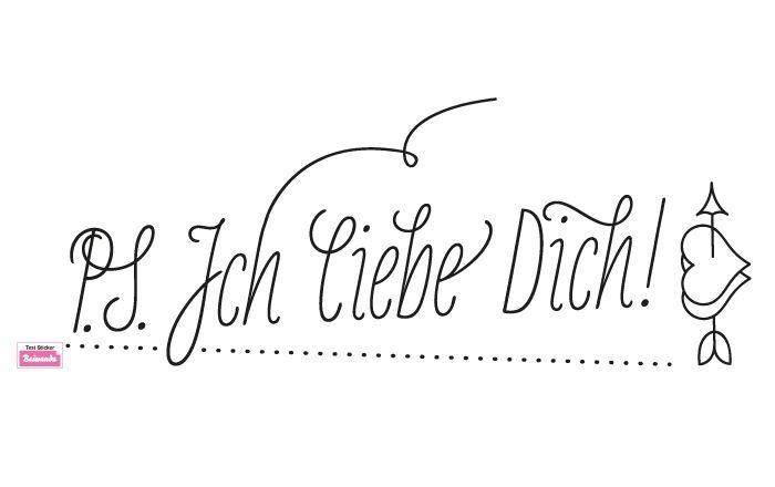 Download ich liebe dich tattoo | Wandtattoo P.S. Ich liebe Dich ...