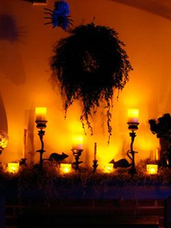 Tips on spraypainting and making a scary wreath. MyScaryHalloween.com ~ Wicked Wreath