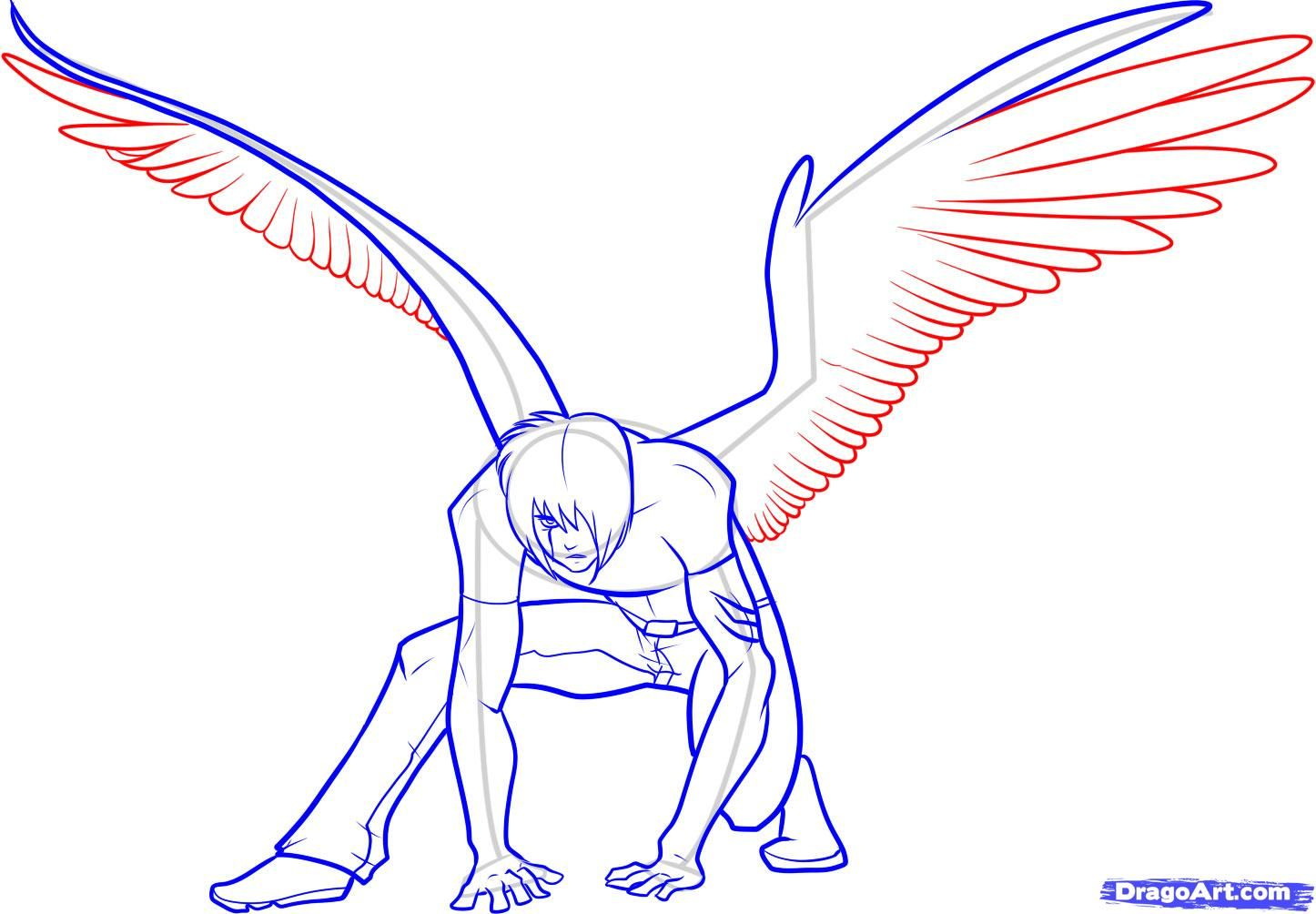 Anime Boy With Wings Drawing Hd Background 9 Wings Drawing Anime Drawings Drawings