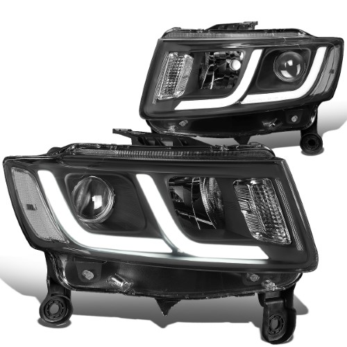 For 2014 To 2016 Jeep Grand Cherokee Led Drl Projector Headlight Black Housing Clear Corner Headlamp 12 Left Right Jeep Grand Cherokee Projector Headlights 2016 Jeep