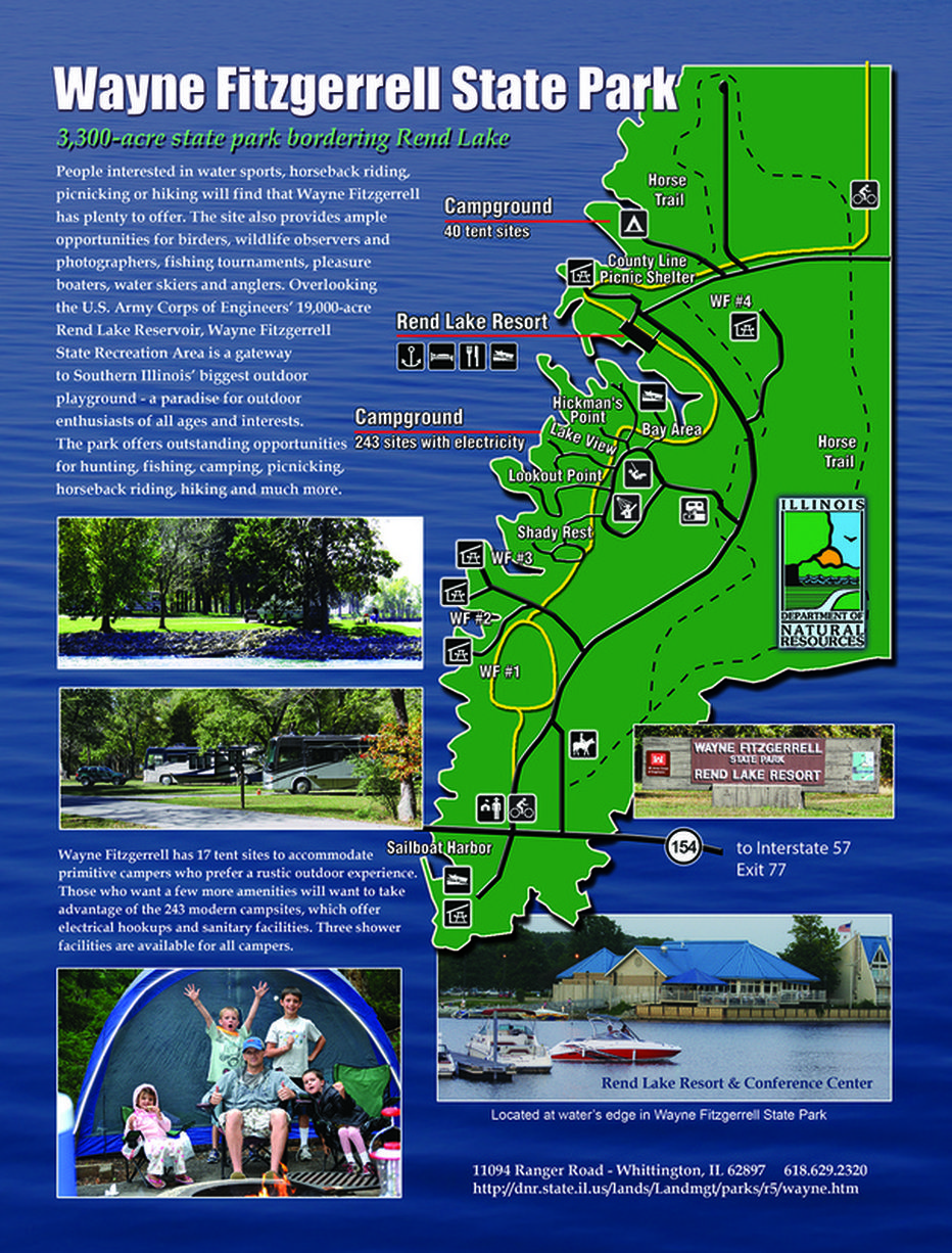 Rend Lake Illinois Map.Map Of Wayne Firzgerrell State Park At Rend Lake In Southern