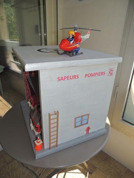 Une caserne contre une t tine jeux et activit s pour enfants playmobil diy et crafts for kids - Caserne de police playmobil ...