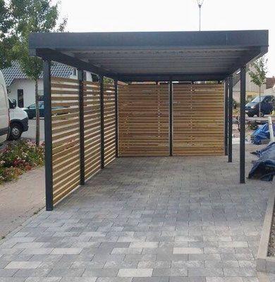 Carports En Metal Galvanise Et Enduit De Poudre Nos Abris De Voiture Tiennent Longtemps En 2020 Abri Voiture Emplacement De Parking Abri Pour Voiture Pergola